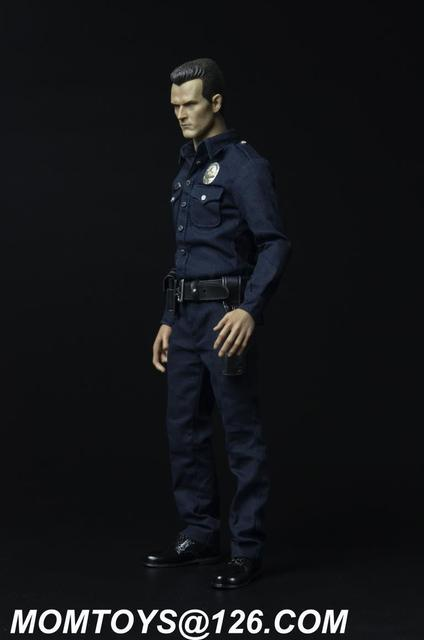 """Momtoys 1/6 Male Clothing Terminator T1000 Villain Police Suit Set Model Toys For 12"""" Action Figure Body Accessory"""