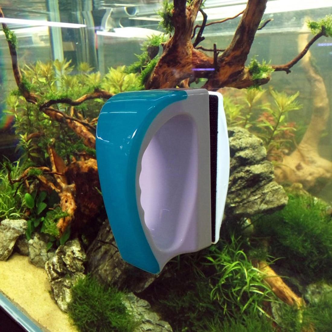 Floating Brush Magnetic Aquarium Fish Tank Glass Seaweed