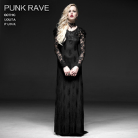 Gothic Punk Lolita Maxi dress Womens Lace broidery Wedding sexy costume 2 pieces Q223