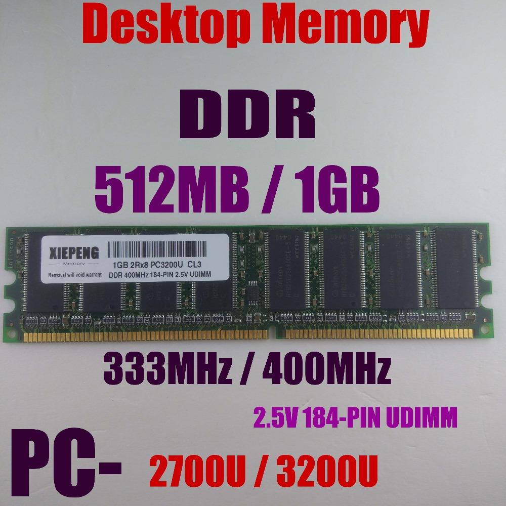 <font><b>1GB</b></font> 2Rx8 PC3200 DDR400 RAM 512MB DDR333 PC2700 <font><b>DDR</b></font> 400MHz NON ECC DIMM 2.5v 184-pin Desktops memory image