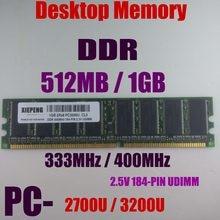 1 GB 2Rx8 PC3200 DDR400 RAM 512 MB DDR333 PC2700 DDR 400 MHz ECC DIMM 2.5 v 184- pin Masaüstü belleği