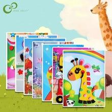 1 adet 3D EVA köpük etiket çok desenler stilleri rastgele göndermek DIY karikatür hayvan bulmacalar çocuklar noel hediye LYQ