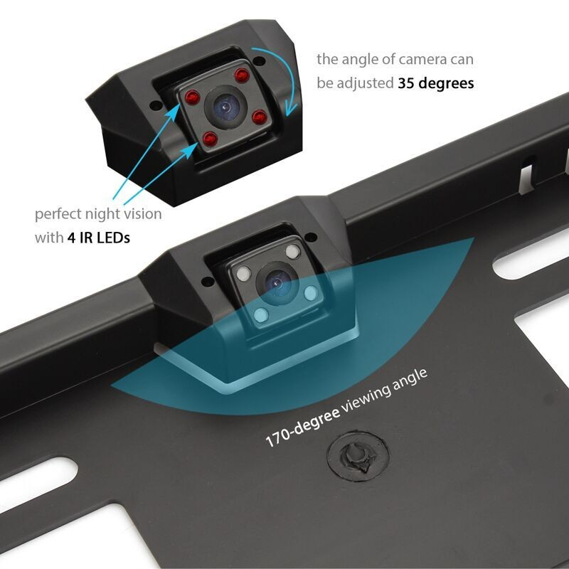 Waterproof European License Plate Frame Rear View Camera Auto Car Reverse Backup Parking Rearview Camera Night Vision 170 degree universal 170 auto reverse backup parking camera car rear view rearview camera