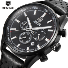Reloj Hombre 2017 BENYAR Fashion Chronograph Sport Mens Watches Top Br