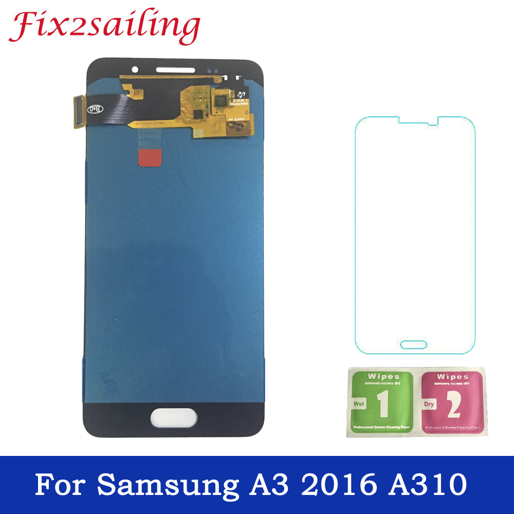 Super Amoled LCDS For Samsung Galaxy  A3 2016 A310 A310F A310H A310M LCD Display Touch Screen Assembly phone replacement partsSuper Amoled LCDS For Samsung Galaxy  A3 2016 A310 A310F A310H A310M LCD Display Touch Screen Assembly phone replacement parts