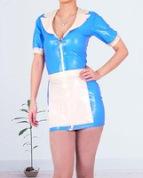Vrouwen latex maid uniform rubber rokken met sexy dienaar kostuums voor meisje plus size hot koop Aanpassen Service
