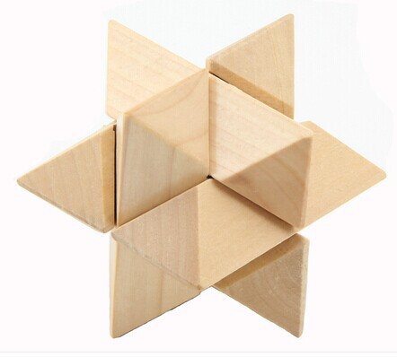 Us 765 Classic 3d Wooden Stars Brain Teaser Interlocking Burr Puzzles For Kids And Adults In Puzzles From Toys Hobbies On Aliexpresscom