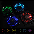 Adjustable RGB Discoloration LED PC Computer Case Heatsink Cooler 12v 120mm*120mm*25mm Six Modes Seven Colors Cooling Mute Fan