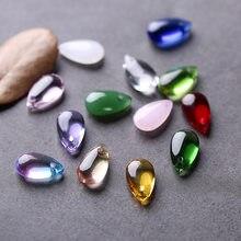 10 pçs 14x8mm lágrima gota lampwork sereia contas multi cor cristal droplet contas de vidro pingente artesanal diy jóias fazendo