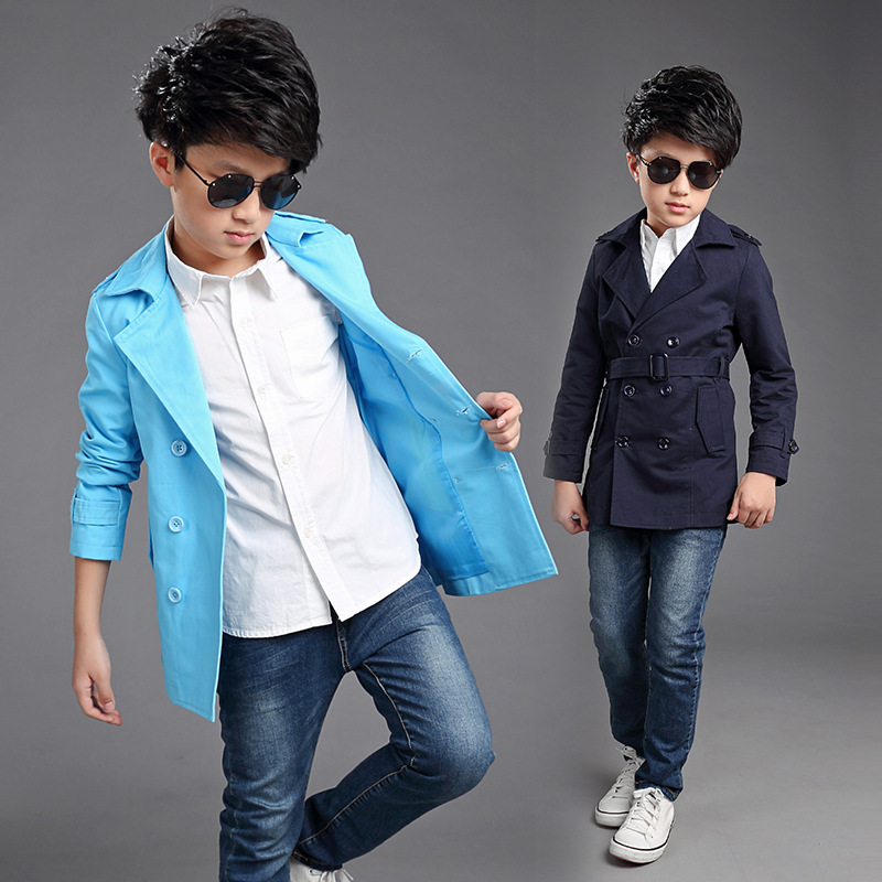 ФОТО Kids boys spring / autumn jacket 2017 new baby boys fashion clothing big virgin coat 4/5/6/7/8/9/10/11/12/13/14