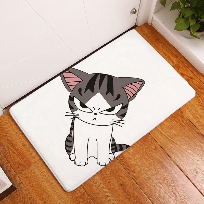 Мягкий коврик для ванной, милый домашний коврик с рисунком кота, коврики для ванной комнаты, коврики для кухни, гостиной, впитывающие Противоскользящие коврики - Цвет: 10