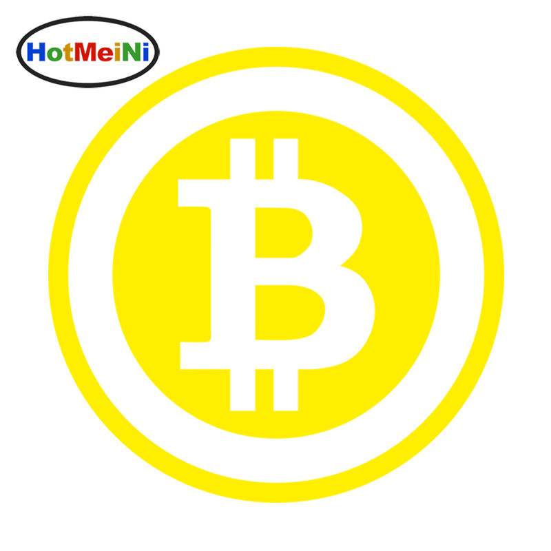 HotMeiNi 15*15cm Car Styling Large Bitcoin Cryptocurrency Blockchain Freedom Car Sticker Vinyl JDM Window Decal Black/Sliver