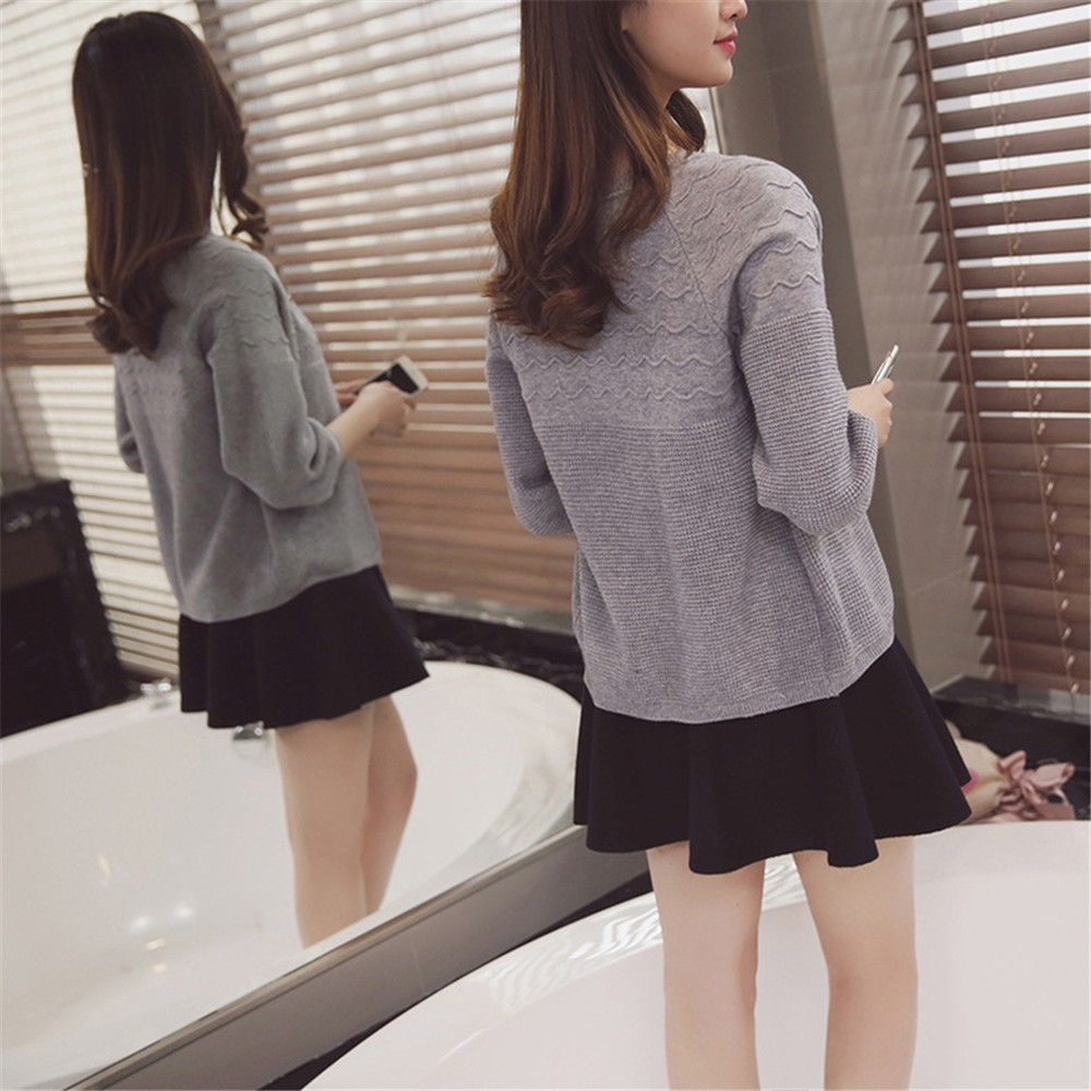 2016 Spring&Autumn Casual Sweater Women Cardigan Sweater Solid Color Open Stitch Women\'s Cotton Knitted Outerwear Sweater (6)