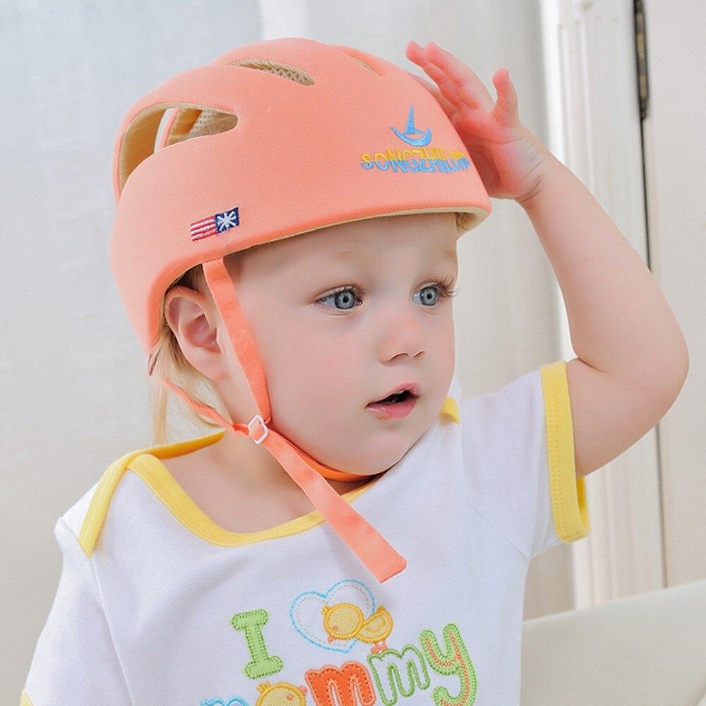 Детский шлем безопасности защитный шлем для детей девушки хлопок младенческой защиты Шапки детей Кепки для мальчиков и девочек Кепки acete ...