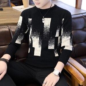 Image 4 - 2018 novo outono & inverno hip hop pulôver masculino de manga longa fino ajuste camisola de natal