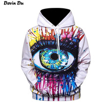 Фотография  Devin Du Paint Fashion Stylish Men/Women Hooded Hoodies 3d Print Paint Eyes Thin Sweatshirts Tracksuits Pullovers dropshipping