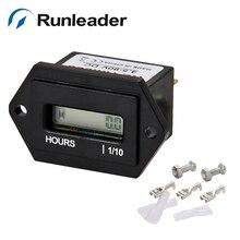 Runleader водонепроницаемый переустанавливаемый lcd DC 4,5-90 V счетчик часов с питанием от постоянного тока счетчик часов Таймер для двигателя