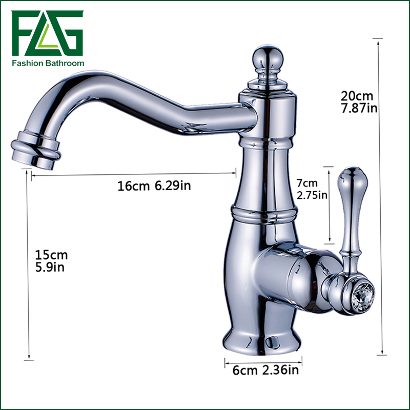 Contemporary New Polished Chrome Brass Bathroom Faucet Single Handel Vessel Mixer Tap grifo lavabo negro