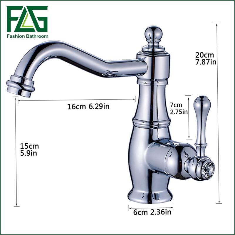 Φ_ΦContemporary New Polished Chrome Brass Bathroom Faucet Single ...
