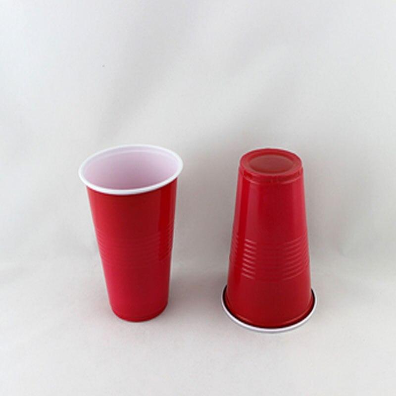 50pcs Solid red/blue Plastic <font><b>Cups</b></font> Insulated <font><b>Solo</b></font> <font><b>Cup</b></font> 16oz 50ct Disposable Beer party Bar Tea shop <font><b>cup</b></font> Drinking <font><b>Cup</b></font>