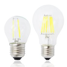 Dimmable E27 Led Edison bulb 4w 8w 12w 16w G45 A60 Vintage Filament led bulb AC 220V 240V Glass Globe light(China)