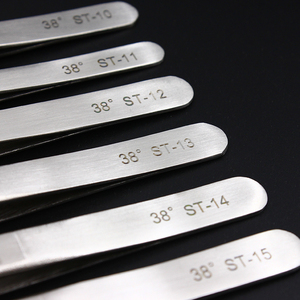 Image 3 - 100% Hakiki Vetus ST Serisi Yeni HRC 38 Ultra Hassas 302 Paslanmaz Cımbız Vizon Kirpik Uzantıları Anti Asit