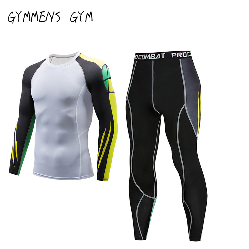 High Quality Men's Thermal Underwear Set Gym Quick-drying Tights Riding Clothes New Warm Ski Underwear Sport Suit