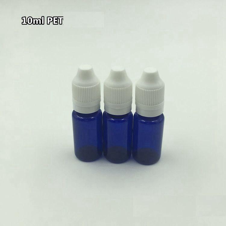 купить freeshipping 10ml blue PET plastic ophthalmic bottle/eye drop bottle with white anti-theft cap empty subpackage bottle недорого