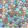 Fashion Colorful Ceramic Pebble Mosaic Tile Kitchen Backsplash Tile Bathroom Swimming Pool Wall Background Tiles Shower