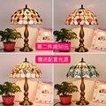 Tiffany naturl shell Tisch Lampe Klassischen Europäischen Barock schlafzimmer Nacht Lampe E27 110 240V-in Tischlampen aus Licht & Beleuchtung bei