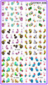 6 PACK/ LOT  GLITTER WATER DECAL NAIL ART NAIL STICKER EASTER RABBIT EGG SY831-836