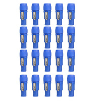 20PCS Powercon Male Plug NAC3FCA 20A AC Cable Speak ON Connector 250V Powercon 3 Pin Speaker Chassis Adapter PowerCon Connector