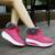 Lo nuevo 2016 Mujeres Del Invierno botas Alto-top de Lona de Impresión de Moda Casual Plataforma Pivotar Los Zapatos de Tobillo de La Manera Caliente de la Felpa de Nieve botas