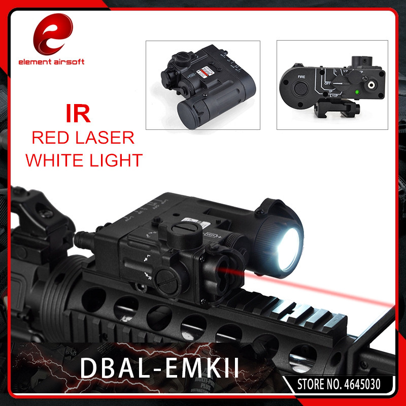 Element Airsoft Weapon Lights Tactical DBAL EMKII IR Laser Led Torch Multifunction IR Laser Illuminator DBAL D2 Flashlight Black in Weapon Lights from Sports Entertainment
