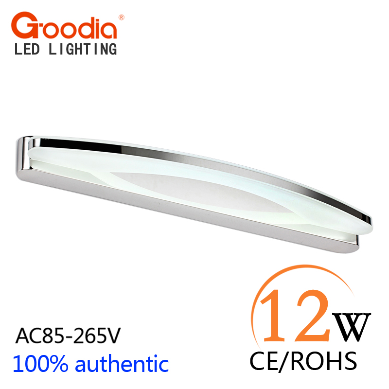 Modern 12W 54CM LED wall lamp bedroom headboard bedside lamp LED bathroom light wall sconce lamp LED Mirror light modern bathroom led mirror light 520 80 75mm 90 260v 12w 4 heads aluminum acryl led wall sconce led bed lamp 100% quality guaran