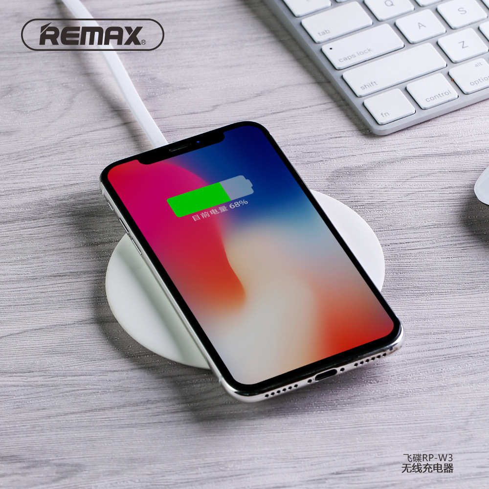 REMAX RP W35W Qi Wireless Charger Quick Fast Wireless Charging for Samsung S7 S8 S9 S10 PLUS For iPhone 8 X XR