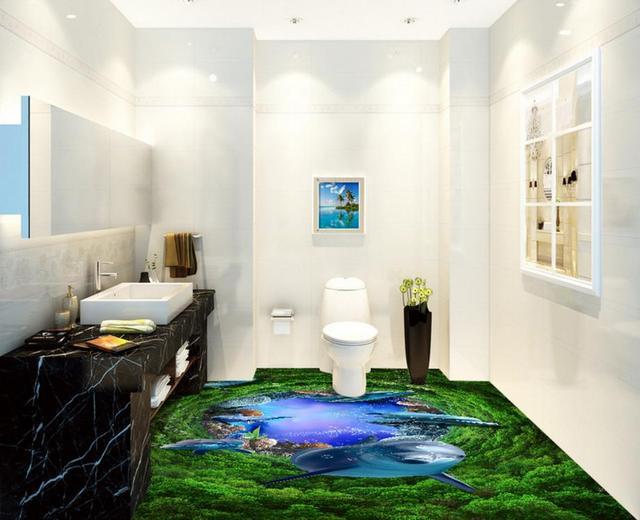 Photo Wallpaper Murals Pvc Vinyl Flooring Customize Ocean World Wallpapers Bedrooms 3D Floor Tiles For Living