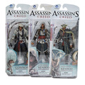 Hot Assassins Creed Figure PVC Action Figures Doll Connor Haytham Kenway Collectible Model Toys Birthday Gift Kids 4 styles
