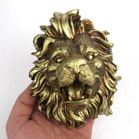 Fountain nozzle head wall hanging lion head resin crafts home hanging decorations landscape water fountain pool outdoor sculptu