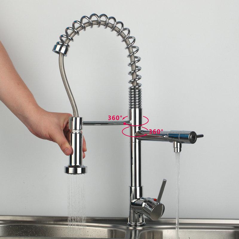 Doube Wasser Auslauf Wasserhahn Heißen/Kalt Wasserhahn Küche ...