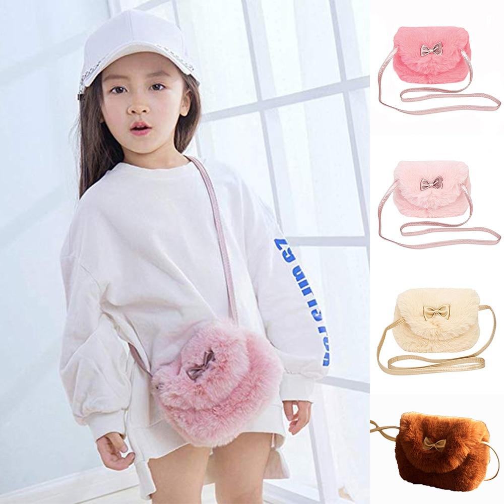 Mini Bag School-Bag Nursery Small Female Casual Bow Plush Bowknot Infants Baby Girl Kids