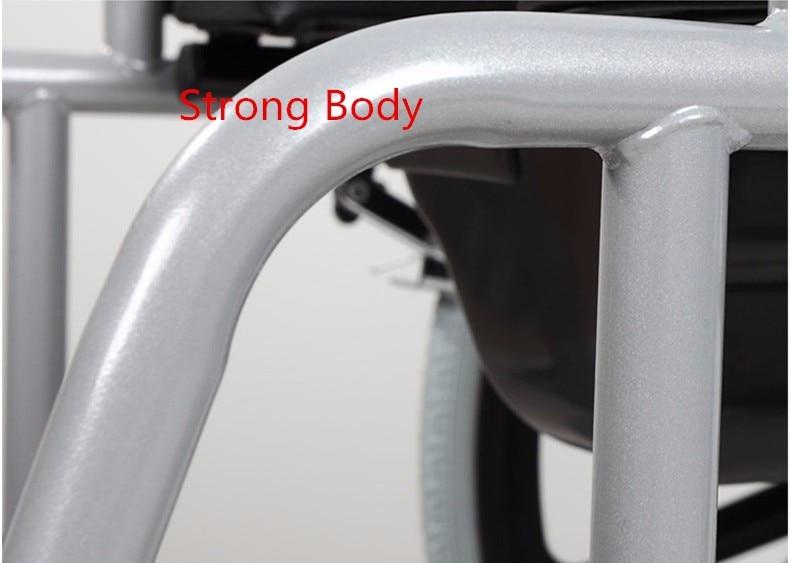 Складной Malfunctional Регулируемый старик коляски черный четыре w