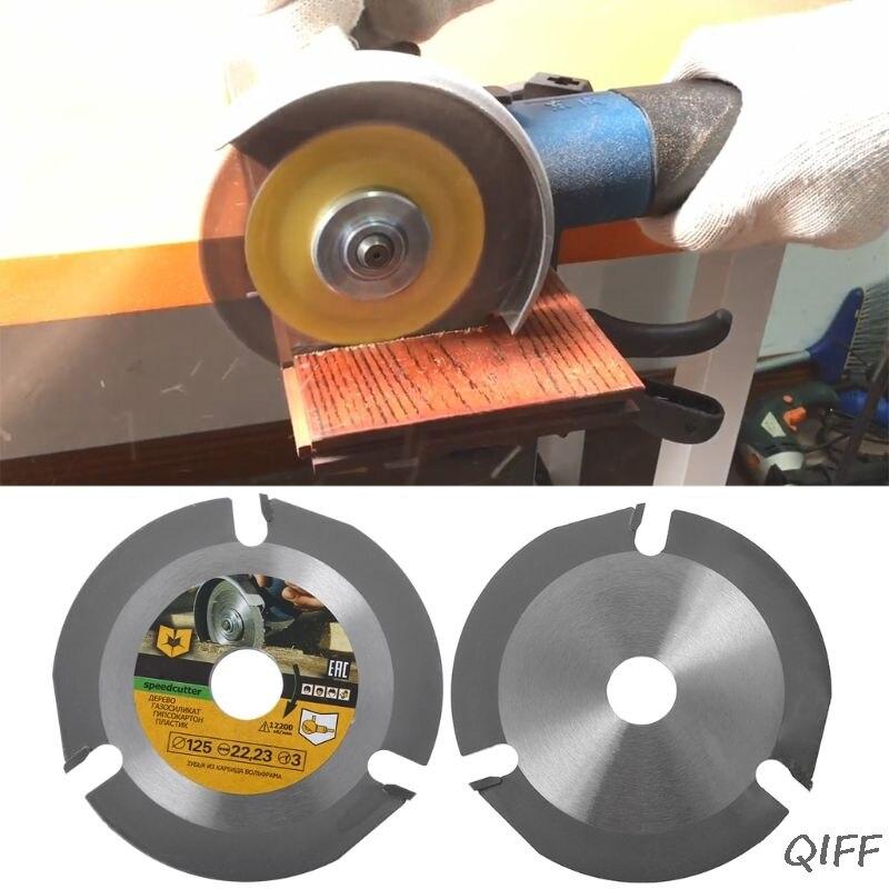 125 мм 3 т круговой режущие диски Мультитул резьба по дереву резка болгарка карбида мощность инструмент вложения Mar28