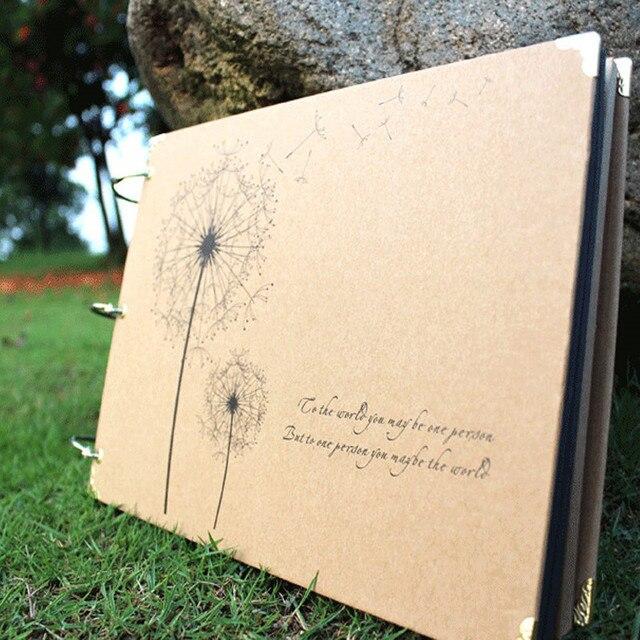 10 inch AlbumDiy Bồ Công Anh Loạt Handmade TỰ LÀM Ảnh TỰ LÀM Album Album Trang cho Đám Cưới Bé Những Người Yêu Thích Album Ảnh Lỏng -lá