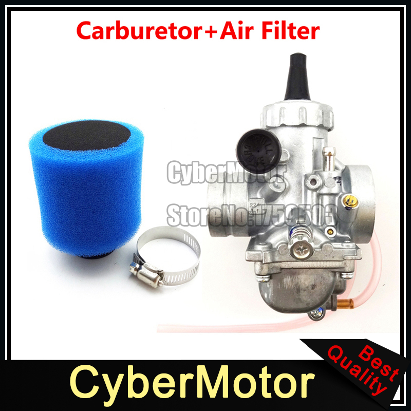 Mikuni VM24 28mm Carburetor Carb + Air Filter For Yamaha YZ85 TTR125 Dirt Pit Bike Motorcycle Motocross beler motorcycle motocross push pull throttle cable assembly assy fit for yamaha pw80 1985 2007 bw80 1986 1990 dirt motor bike