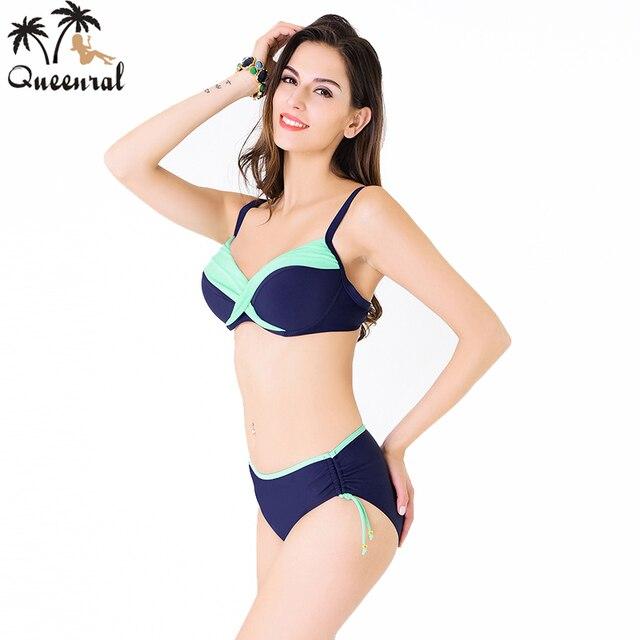 a05b7aeea46c € 25.2 |Queenral mujeres de talla grande ropa interior femenina sujetador  del traje de baño brasileño traje de baño beach wear traje de baño bra ...