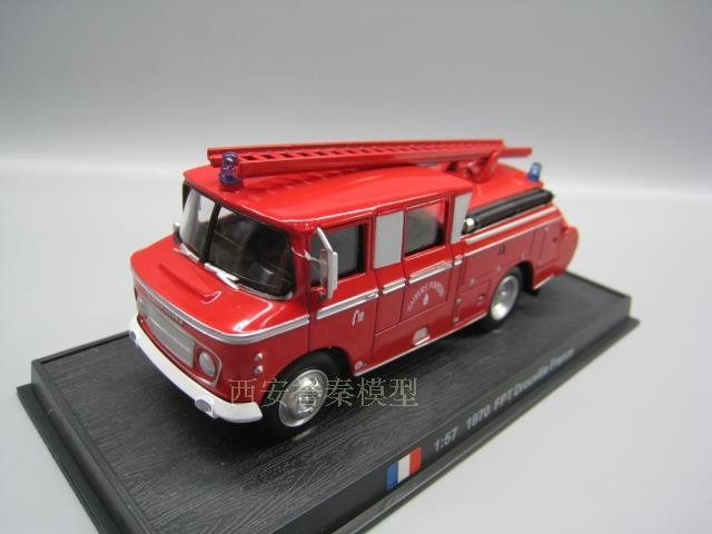 AMER 1/57 Scale <font><b>Vintage</b></font> Car 1970 FPT DROUVILLE FRANCE Fire Engine <font><b>Diecast</b></font> Metal Car Model Toy For Collection/Gift/Decoration image