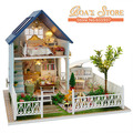 2015 New Ariive Diy Wooden Doll house  Miniatura 3D Puzzle Children Toys Model Kits Toys Birthday Christmas Gift-Nordic holiday