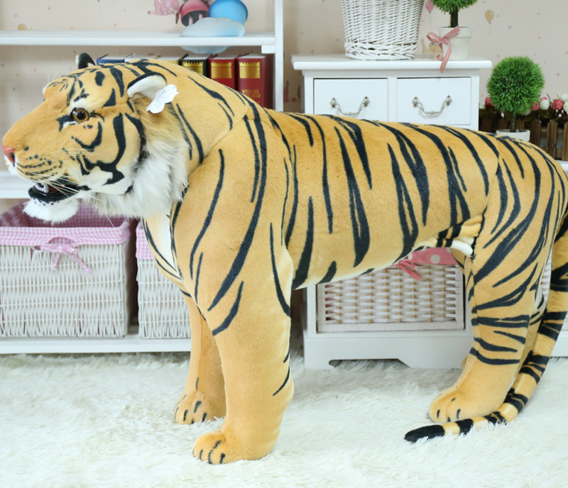 standing pose simulation tiger large 110x70cm plush toy , can be rided. home , party decoration Christmas gift x012 simulation animal huge leopard plush toy 110x70cm high quality can be rided birthday gift christmas gift w0442