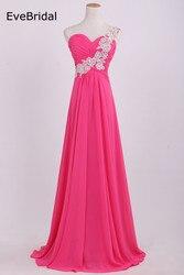 Wholesale stock 5 colors chiffon bridesmaid dresses a line one shoulder applique beading crystals size 4.jpg 250x250
